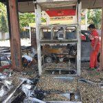 SPBU Angata Kebakaran, Satu Unit Mobil Hangus Terbakar