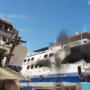 VIDEO : Detik detik Terbakarnya Kapal Roro KMP Sembilang Yang Menewaskan 3 Orang