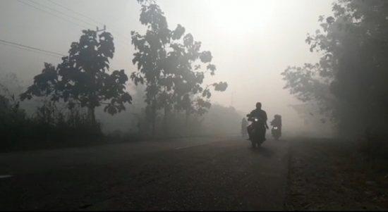 Akibat Kabut Asap Karhula di Laolae 12 Warga Terserang ISPA