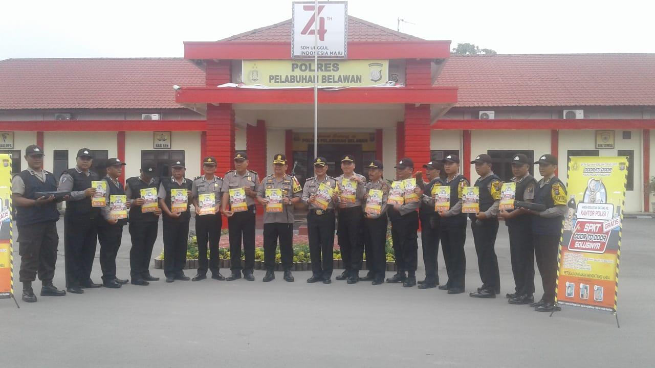 Kapolres Belawan Buka Sentral Pelayanan Terpadu SPKT dari Rumah - Kerumah