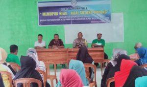 Forum Keserasian Sosial Desa Patowonua Gelar Dialog Tematik