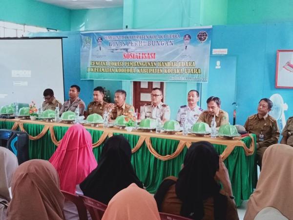 Dinas Perhubugan Gelar Sosialisasi Rencana Lokasi Pembangunan Bandar Udara di Kecamatan Kodeoha