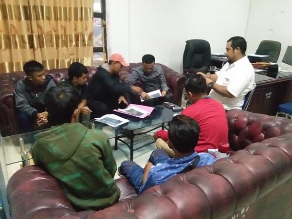 HMI Cab. Kolut Hearing ke DPRD Terkait Dugaan Penambangan Ilegal di Kec. Batu Putih