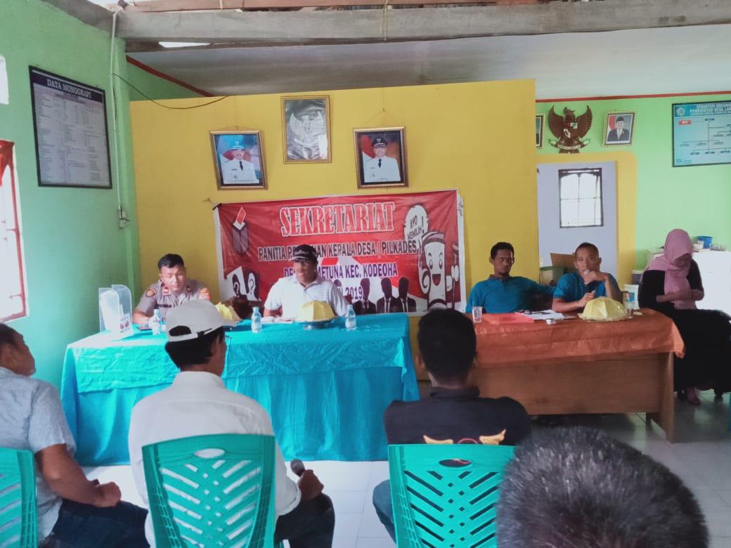 Pemaparan Visi Misi dari Tiga Calon Kades dan Deklarasi PILKADES Damai Desa Lametuna