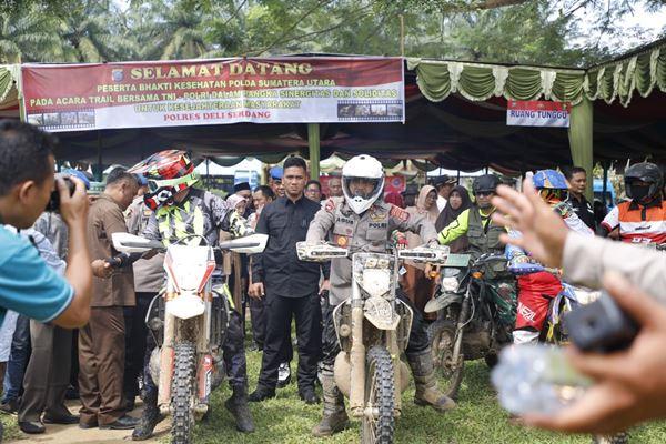 Jalin Sinergitas dan Solidaritas, TNI - POLRI Menggelar Kegiatan Trail Bersama