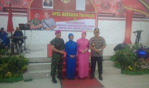 Apel bersama TNI-POLRI dan Penyambutan Danyon Marhanlan terlaksana di Polres Pelabuhan Belawan
