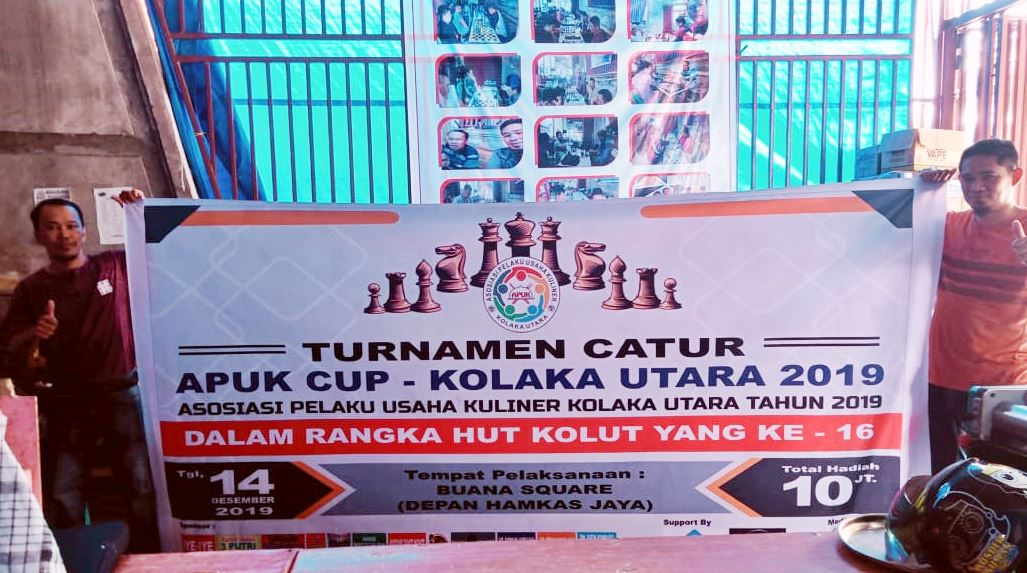 Asosiasi Pelaku Usaha Kuliner akan Menggelar Turnamen Catur APUK CUP dalam Rangka HUT Kolut yang ke 16